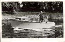 TUCK Power Boat Yacht Motor Cruiser Series Real Photo Postcard MAID MONICA