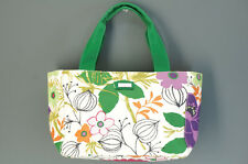 Authentic JIM THOMPSON Canvas Tote Bag Green Floral Free Ship 995f40