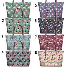 Cute Pug Dog Womens Handbag Shoulder Beach Bag Satchel Tote Purse Fashion Travel