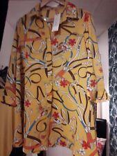 Ladies Voyelles patterned Blouse Size  S chest 44 chest 33inch length