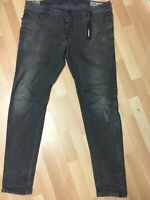 WORN Men Diesel SLEENKER PATCH STRETCH Denim 0676P DARK GREY Slim W38 L34 H6