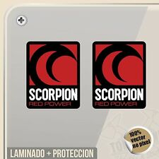 PEGATINA SCORPION EXHAUST RED POWER NEW DECAL VINILO VINYL STICKER DECAL ADESIVI