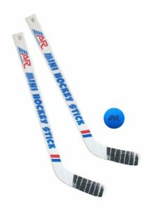 A&R Sports Mini Hockey Stick Set, 2 Sticks & 1 Sponge Ball