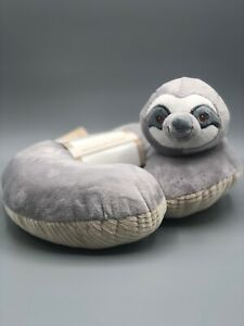 Grey Sloth Baby Neck Pillow - Kelly Baby