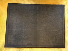 More details for vintage john speed kent map dark brown backed on hard card