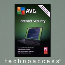 AVG INTERNET SECURITY 2018 3 PC 1 YR RETAIL VERSION GENUINE (DOWNLOAD ONLY)