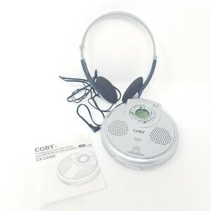 COBY Personal CD Player Headphones Digital LCD Display Silver CX-CD309 Tunebelt