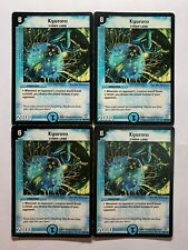 Duel Masters DM06 36/110 4X Kyuroro PLAYSET PLAYED Condition