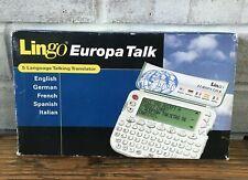 Lingo Europa Talk 5 Language Talking Translator German French Spanish Italian
