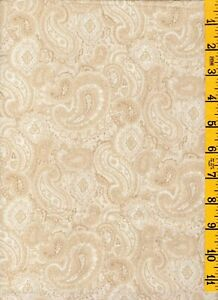 1-1/3 Yard L 108W Cotton Quilt Back Fabric Henry Glass Heritage Beige Paisley