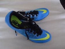 New NIKE Racing Rival S Sprint Track Cleats Royal Blue & Neon Volt sz 13