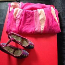 Ladies Muli-Coloured High Heel Shoes Size 6 NEW & Dress Size 12 pink & cream