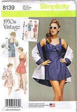 Vtg 50s Retro 1 Pc Swimsuit Beach Dress Bathing Coat Sewing Pattern 6 8 10 12 14
