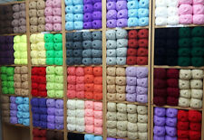 WHOLESALE JOB LOT 120 balls  knitting WOOL yarn  NEW   megga sale mixed lot yarn