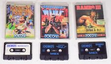 3 games cassettes msx 64k Commodore tape PC Game Vintage 88 Rambo III - 00bd