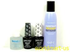 OPI GelColor Soak-off  Base Coat & Top Coat & BondAid 1fl.Oz & Remover 4fl.Oz