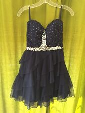 Strapless Short Navy Blue Formal Gown Cocktail Dress Size 7