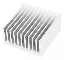 2x Square Aluminium Cooler Fin Radiator HeatSink 40x40x20mm CPU GPU IC CHIP PC