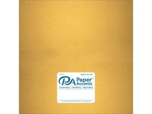 PAPER ACCENTS ADP1212-5.877  ADP1212-5 877 PAPER PEARLIZED 12X12 80LB GOLD 5PC