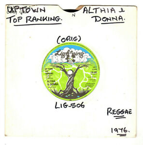 """ALTHIA & DONNA.UP TOWN TOP RANKING / MIGHTY TWO.CALICO SUIT.UK ORIG REGGAE 7"""".EX"""