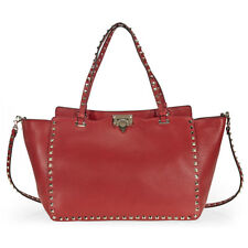 Valentino Rockstud Medium Tote - Red