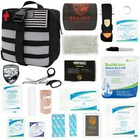 Atlas Survival Emergency IFAK Trauma Kit w/ Splint, Tourniquet, Israeli Bandages