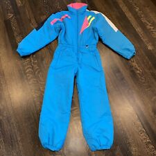Vtg 80s 90s OBERMEYER One Piece Snow Suit Apres Ski Bib retro Snowsuit Womens XS