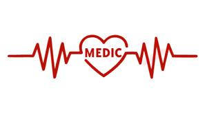 Medic Heartbeat Rhythm Nurse Sticker Vinyl Decal Window Sticker Car