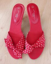 Gorgeous Red & White Spotty Kitten Heel Shoes from New Look - Size 3 - Fabulous!