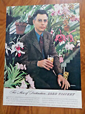1945 Lord Calvert Whiskey Ad  John Lager Orchidologist