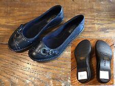 NEW Clarks Bendables 82759 Rustic Cliff 6M black ballerina flats womens shoes