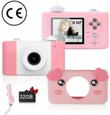 Kids Fun Camera with Silicone Case, Rechargeable Child Mini Cartoon Digital 1080