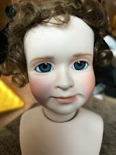 Wendy Lawton #8061A Porcelain-Hand Painted-Glass Eyes-Signed Molded Head