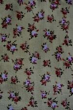 Multi Floral Print On Tan Corduroy Cotton Fabric 34X42 Inches