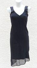 Robe Noire Rayures Blanches Etam Tailles 38