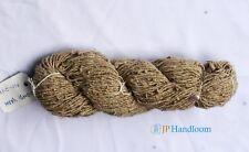 100g handspun Natural fiver Lady Finger yarn  Weave, Knit & Crotchet free ship