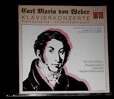 CARL MARIA VON WEBER PIANO CONCERTOS PETER RÖSEL HERBERT BLOMSTEDT DRESDEN CD