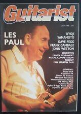 Guitarist Magazine Janvier 1988 Les Paul