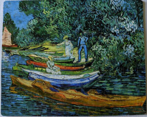 """nautilus wooden jigsaw puzzles """"Rowing Boats"""" by Van Gogh, 434 pieces complete"""