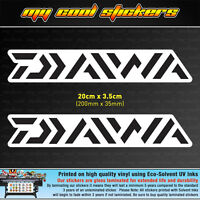 2 x Diawa 20cm Vinyl Sticker Decal, for Fishing Boat 4X4 Ute Car Tackle box Esky