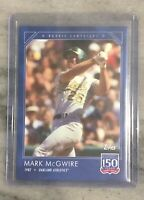 2019 Topps 150 Years of Baseball Card # 6 - Mark McGwire Rookie Campaigns 1987