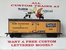 Ho Custom Lettered Rome Watertown & Ogdensburg Rr Freight Car Reefer. Lot A