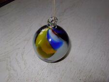 belle boule de noël ronde ancienne verre soufflé multicolore