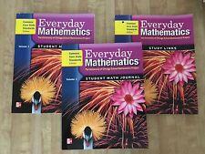 Everyday Mathematics Gr 4 Common Core Set 2 Journals & Study Links Workbooks