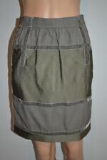 Etro Brown w/Olive Velvet Detail Skirt Size 38