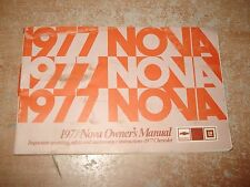 1977 CHEVY NOVA OWNERS MANUAL GLOVE BOX BOOK RARE ORIGINAL