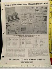 1964 SNAP-ON 2158-RF-B GENERAL PURPOSE REFRIGERATION SERVICE SET CATALOG INSERT