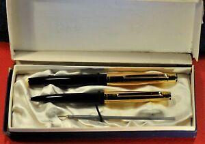 """Markant"" 65 EXQUISIT Vintage Black/GT German Fountain&Ballpoint pens sets."