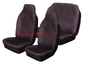 Fiat Panda  - Heavy Duty Black Waterproof Car Seat Covers - Full Set