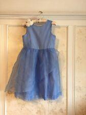 NWT Janie And Jack Girls Blossom Organza Dress 10 Blue